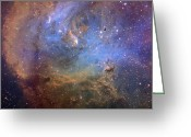 Molecular Clouds Greeting Cards - Ic 2944 And Thackerays Globules Greeting Card by Don Goldman