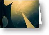 Abstract Greeting Cards - Icarus Journey to the sun Greeting Card by Bob Orsillo