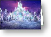 Scene Mixed Media Greeting Cards - Ice Castle Greeting Card by Philip Straub
