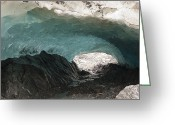 U.s. National Forest Greeting Cards - Ice Cave In Mendenhall Glacier, Tongass Greeting Card by Matthias Breiter