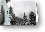 Prowess Greeting Cards - Ice Climber Greeting Card by Mark Weber