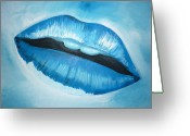 Ice Painting Greeting Cards - Ice Cold Lips Greeting Card by Paul Horton