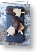 Dipped Greeting Cards - Ice Cream Bars Dipped In Chocolate Greeting Card by Cultura/Line Klein