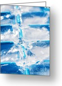 Close Up Greeting Cards - Ice Cubes Greeting Card by Carlos Caetano