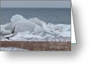 Ices Greeting Cards - Ice Floe Marquette Greeting Card by Deborah Smolinske