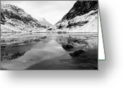 Ice-floe Greeting Cards - Ice Flow - Loch Achtriochtan, Glencoe Greeting Card by David Hannah