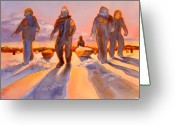 Friends Greeting Cards - Ice Men Come Home Greeting Card by Kathy Braud