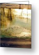 Reflection Photo Greeting Cards - Ice On The River Greeting Card by Bob Orsillo