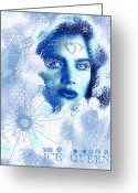 2hivelys Art Greeting Cards - Ice Queen Greeting Card by Methune Hively