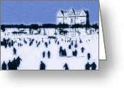 Fun Pastels Greeting Cards - Ice skating in Central Park Greeting Card by Stefan Kuhn