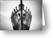 Ship-wreck Greeting Cards - Iceland Ghost Ship Greeting Card by Nina Papiorek