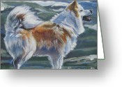 Sheepdog Greeting Cards - Icelandic sheepdog Greeting Card by Lee Ann Shepard