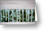 Tacoma Greeting Cards - Icicles Greeting Card by David Patterson