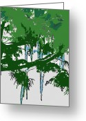 Braches Greeting Cards - Icicles Greeting Card by Sherry Shipley