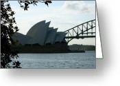 Sydney Harbour. Circular Quay Greeting Cards - Icon duo Greeting Card by Kirsten Chee