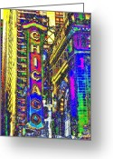 Chicago Landmarks Greeting Cards - Iconic Chicago Greeting Card by Leslie Revels Andrews