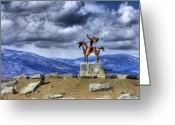 Greaves Greeting Cards - Iconinc Osoyoos Landmark Greeting Card by John  Greaves