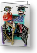 Green Sculpture Greeting Cards - Id Give My Right Arm For You Greeting Card by Keri Joy Colestock