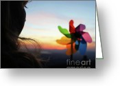 Kid Photo Greeting Cards - Id Like to Think That Maybe... Greeting Card by Skye Zambrana