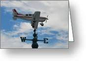 Weather Vane Greeting Cards - Id Rather Be Flying Greeting Card by Bill Cannon