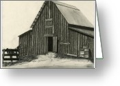 Old Barns Greeting Cards - Idaho Warmth Greeting Card by Bryan Baumeister