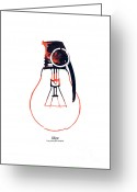Minimalist Greeting Cards - Idea is a powerful weapon Greeting Card by Budi Satria Kwan