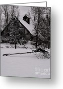 Blacks Greeting Cards - Idle Time - Waiting For Spring Greeting Card by Steven Milner