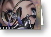 Revelations Greeting Cards - If Eyes Are Steel Greeting Card by Jon Gemma In Your Living Room