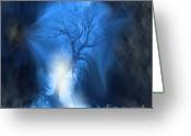 Vortex Greeting Cards - If I Fall Greeting Card by Cathy  Beharriell