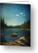 Scenic Digital Art Greeting Cards - If It Could Be Just You and Me Greeting Card by Laurie Search