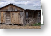 Cabin Window Greeting Cards - If These Walls Could Talk Greeting Card by Angi Parks