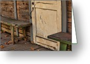 Dilapidated Greeting Cards - If This Porch Could Talk Greeting Card by Bonnie Bruno