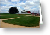Baseball Game Greeting Cards - If you build it they will come Greeting Card by Susanne Van Hulst