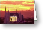 Cebucity Greeting Cards - Iglesia ni Cristo Sunset Cebu City Philippines Greeting Card by James Bo Insogna