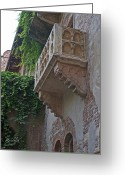 Romeo And Juliet Greeting Cards - Il Balcone de Giulietta Greeting Card by Cheri Randolph