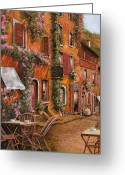 Restaurant Greeting Cards - Il Bar Sulla Discesa Greeting Card by Guido Borelli