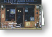 Brasserie Greeting Cards - Il Covo Della Costa Greeting Card by Guido Borelli