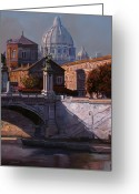 River Greeting Cards - Il Cupolone Greeting Card by Guido Borelli