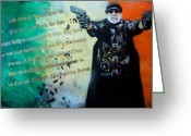 Irish Mixed Media Greeting Cards - IL DUCE No. 2 Greeting Card by Christopher  Chouinard