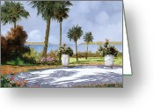Walking Greeting Cards - Il Giardino Delle Palme Greeting Card by Guido Borelli