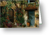 Landscape Greeting Cards - Il Giardino Francese Greeting Card by Guido Borelli