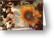 Petals Greeting Cards - Il Girasole Greeting Card by Guido Borelli
