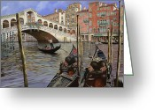Guido Borelli Greeting Cards - Il Ponte Di Rialto Greeting Card by Guido Borelli