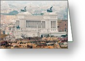 Rooftops Greeting Cards - Il Vittoriano Greeting Card by Andy Smy