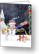 Patriotism Painting Greeting Cards - Ill Be Home Greeting Card by Suzy Pal Powell