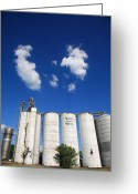 Americana Greeting Cards - Illinois Grain Silos Greeting Card by Frank Romeo