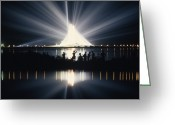 Program Greeting Cards - Illuminated By Spotlights, Apollo Ii Greeting Card by Otis Imboden