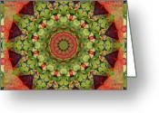 Green. Organic Greeting Cards - Illumination Greeting Card by Bell And Todd