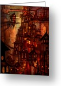 Fantastic Greeting Cards - Illuminations Greeting Card by Philip Straub