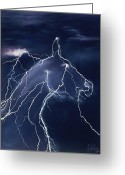 Horse Art Pastels Greeting Cards - Illusion Greeting Card by Kim McElroy
